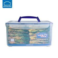 乐扣乐扣保鲜盒8L提手型密封大容量收纳盒相机医药箱 HPL884