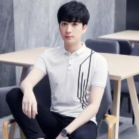 新款男式轻薄透气短袖POLO衫男式户外韩版修身上衣