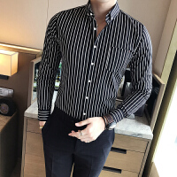 衬衫男长袖修身韩版免烫发型师衬衣青年商务休闲男士寸衫