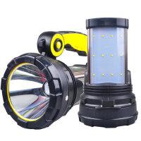 户外探照灯远程强光手电筒 可充电超氙气灯手电筒打猎手提灯防水家用