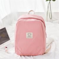 学生女韩版双肩包大学生书包帆布大容量15.6书包电脑包旅行背包