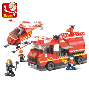 【当当自营】小鲁班急速火警系列儿童益智拼装积木玩具 急救先锋队M38-B0222