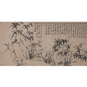 W2734 郑板桥(款)《三友图》(有张伯驹等多位名家收藏印)