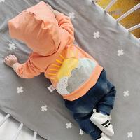 秋季新款外套3个月宝宝婴幼儿12外出服6开衫连帽1岁韩版修身外套