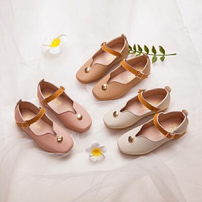 女童皮鞋春季软底公主鞋小学生单鞋儿童高跟鞋奶奶鞋