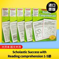 现货正版 美国小学英文原版教材 scholastic Success with Reading comprehensi