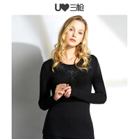 三枪维耐寒系列 舒木尔维耐寒暖阳圆领女长袖打底衫