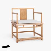 实木椅子新品中式靠背家用餐椅会客休闲椅现代简约办公洽谈接待椅