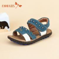 红蜻蜓童鞋时尚铆钉经典鞋底舒适男童儿童凉鞋511L62309X