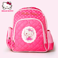 Hello Kitty凯蒂猫 KT1045A玫红 女童书包甜美淑女双肩包EVA幼儿园书包 当当自营