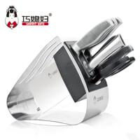 巧媳妇菜刀厨房不锈钢八件套刀天翼5铬钢锋利厨房组合套刀具T-718-8