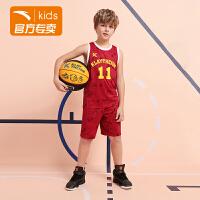 【券后价89】【商城同款】安踏童装篮球运动套装夏季男童速干两件套352021204
