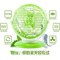 时尚迷你usb风扇学生宿舍小电风扇静音6寸迷你风扇办公室USB电风扇 绿色 均码