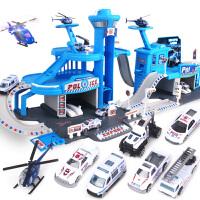 4-5-6岁男孩小汽车双人套装儿童轨道车玩具 停车场 立体多层赛道
