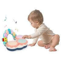 贝恩施儿童手拍鼓玩具 1-2岁宝宝音乐拍拍鼓玩具 婴儿摇铃手拍鼓
