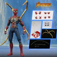 新款模型复仇者联盟3漫威钢铁蜘蛛侠手办玩具人偶套装小孩礼物
