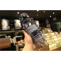 日本带盖塑料杯便携男女运动水瓶防漏学生直饮杯负离子水杯子