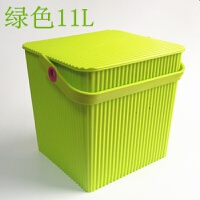 加厚带盖塑料水桶方形桶凳可坐钓鱼桶多用桶收纳储物桶洗澡手提桶P