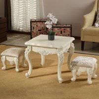 欧式茶几客厅角几方几圆几小方桌圆桌沙发边几边桌阳台咖啡桌 +2小凳