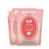韩国保宁B&BB婴儿洗衣液 宝宝除菌洗衣液 纤维洗涤剂800ML*2