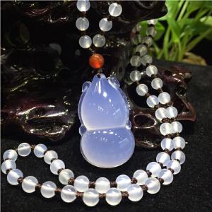 天然珠宝玉石蓝玉髓葫芦项链项坠吊坠挂饰【TQYS3-5(007)】