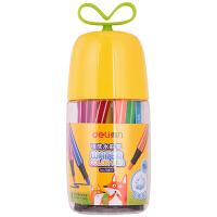 得力水彩笔70679 学生儿童18色24色36色水彩笔绘画笔萌芽可提水彩笔