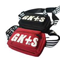 超火的字母包包印花斜挎包男女单肩小包包胸包腰包手机包钱包