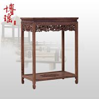 中式花架木盆景架 实木花几花盆架子方形置物架鱼缸架 60*40*80