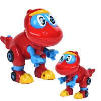 帮帮龙儿童变形玩具电动恐龙探险队出动正版棒棒龙新汽车韦斯大号