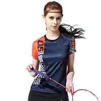 羽毛球服短袖上衣男女T恤弹力修身显瘦透气速干团购比赛运动队服