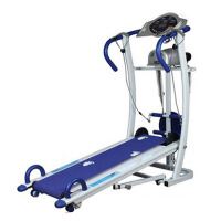 休闲多功能家用机械跑步机双轮静音运动健身器材906 静音家庭小型免安装