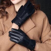 薄款羊皮手套女士手套冬加绒加厚保暖骑行防风寒开车手套