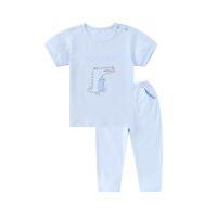 小猪班纳童装男童睡衣夏季儿童家居服短袖t恤裤子小童宝宝两件套