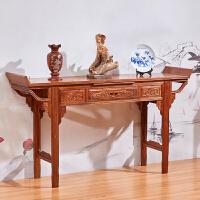 中式供桌实木家具供台家用翘头案客厅神台木条案 整装