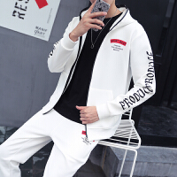 新款青少年韩版时尚卫衣套装男士秋季长袖运动服初中高中学生