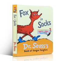 低幼适龄版 Bright and Early Board Books系列Fox in Socks Book of Tongue Tanglers 幼儿启蒙认知读物 廖彩杏推荐英文原版童书  纸板书