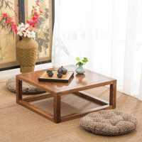 榻榻米茶几简约实木飘窗桌炕桌炕几老榆木矮桌小桌子家用日式茶桌
