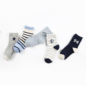 彩桥 儿童袜子男纯棉秋冬款儿童棉袜大童袜子3-18岁宝宝袜子