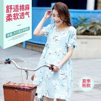 孕妇连衣裙夏装2018韩版新款短袖上衣中长款潮妈夏季长裙孕妇裙子 XXX