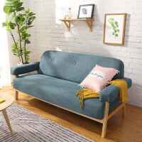 沙发小户型北欧风布艺双人三人卧室小沙发现代简约出租房懒人沙发