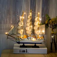 一帆风顺帆船摆件装饰品家居房间小摆设酒柜客厅柜工艺船模型