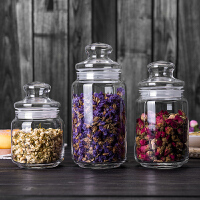 小号玻璃茶叶罐茶叶盒透明茶罐便携防潮密封罐玻璃罐储物罐收纳罐s4o