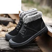 潮牌冬季雪地靴男短靴士皮毛一体靴子英伦保暖加绒加厚棉鞋