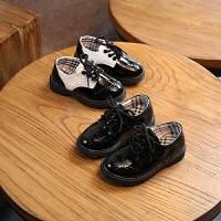 儿童鞋男童黑色皮鞋中小大童学生宝宝表演单鞋休闲鞋