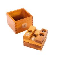 经典开发益智木制大号九连环中国古典益智玩具潘多拉魔盒28cm解孔明鲁班