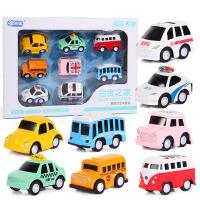 玩具车男孩合金回力小汽车组合套装各类车模型宝宝儿童玩具