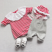 婴儿连体衣服春装宝宝0岁3月季三角新生儿睡衣哈衣爬服新年