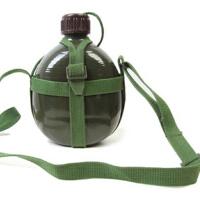 老式87式部队军铝制水壶用配发背水壶07水壶军训水壶旅行水壶户外运动登山必备军用战术壶