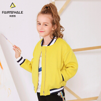 【2件3折折后到手价239.4】马克华菲童装女童毛呢夹克冬新款儿童韩版洋气保暖毛呢外套潮