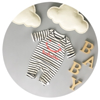 婴儿衣服春秋宝宝连体衣纯棉新生儿冬季居家外出爬衣薄棉6-9个月